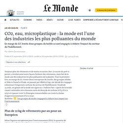 CO2, eau, microplastique: la mode est l'une des industries les plus polluantes du monde