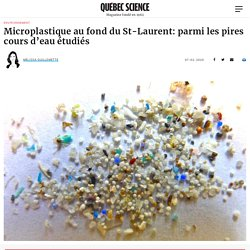 Microplastique au fond du St-Laurent: parmi les pires cours d'eau étudiés