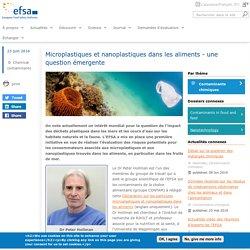EFSA 23/06/16 Microplastiques et nanoplastiques dans les aliments - une question émergente