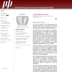 L'interprétation du rêve - micropsychanalyse, une psychanalyse au microscope
