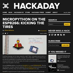 MicroPython on the ESP8266: Kicking the Tires