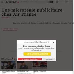 Une microrégie publicitaire chez Air France, Publicité