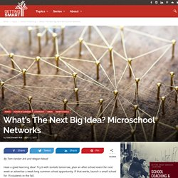 What's The Next Big Idea? Microschool Networks