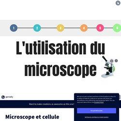 Microscope et cellule by elodie.francon on Genially