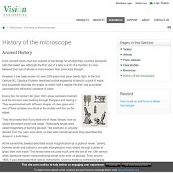 Microscope History: find out about the history of microscope