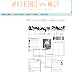 Microscope for Kids + Notebooking Pages - Walking by the Way