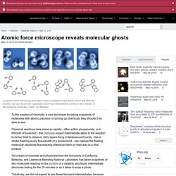 Atomic force microscope reveals molecular ghosts