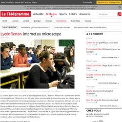 Lycée Renan. Internet au microscope - Saint-Brieuc