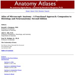 Histology Atlas - Atlas of Microscopic Anatomy A Functional Approach - Anatomy Atlases