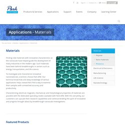 Atomic Force Microscopy Applications (AFM) - Materials