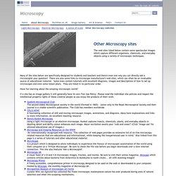 Microscopy websites