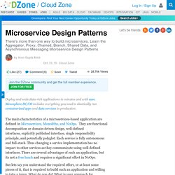 Microservice Design Patterns - DZone Cloud