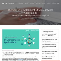 The Cost Of Development Of Microservices Applications
