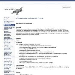 Microservices Architecture Course - Mammatus