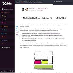 Microservices - Des architectures