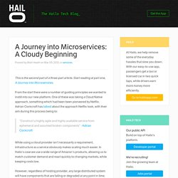 A Journey into Microservices: A Cloudy Beginning