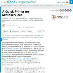 A Quick Primer on Microservices - DZone Integration