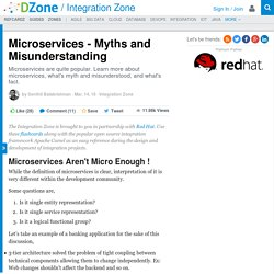 Microservices - Myths and Misunderstanding - DZone Integration