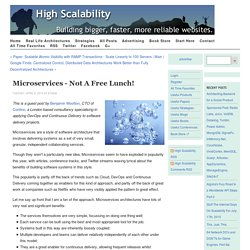 Microservices - Not a freelunch!