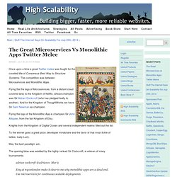 The Great Microservices vs Monolithic Apps Twitter Melee