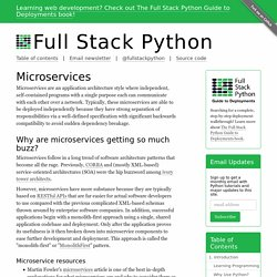 Microservices - Full Stack Python