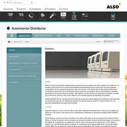 Microsite Apple: Histoire