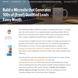 Build a Microsite that Generates 100s of (Free!) Qualified Leads Every Month - The Data Point