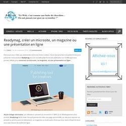 Readymag, créer un microsite, un magazine ou une présentation en ligne