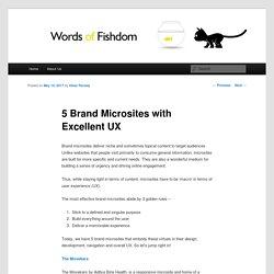 Microsite web design