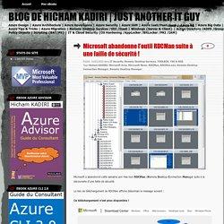 Microsoft abandonne l'outil RDCMan suite à une faille de sécurité !