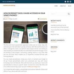 How Microsoft Excel can be accessed in your Smart phones?