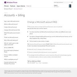 Comment modifier le compte Microsoft de votre Windows Phone