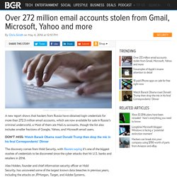 Over 272 million email accounts stolen from Gmail, Microsoft, Yahoo and more