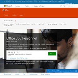 Microsoft Office - Acheter Microsoft Office Personnel