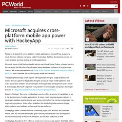 Microsoft acquires cross-platform mobile app power with HockeyApp