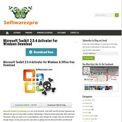 Microsoft Toolkit 2.5.4 Activator For Windows Download