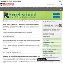 Microsoft Excel School - Online Excel Classes, Excel Training Program