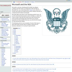 Microsoft and the NSA - Techrights