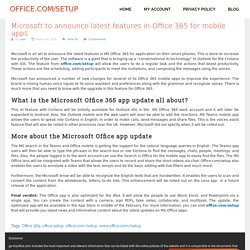 Microsoft to announce latest features in Office 365 for mobile apps