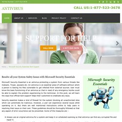 Microsoft Security Antivirus Technical Support Phone Number