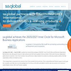 sa.global achieves the 2020/2021 Inner Circle for Microsoft Business Applications