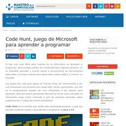 Code Hunt, el juego de Microsoft para aprender a programar