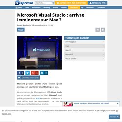 Microsoft Visual Studio : arrivée imminente sur Mac ?