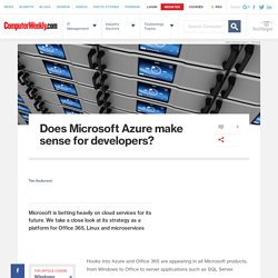 Does Microsoft Azure make sense for developers?