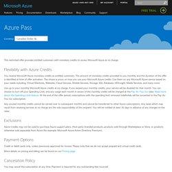 Microsoft Azure Pass