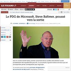 Le PDG de Microsoft, Steve Ballmer, poussé vers la sortie