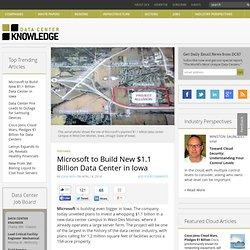 Microsoft construirá nuevo $ 1,1 mil millones de Data Center en Iowa