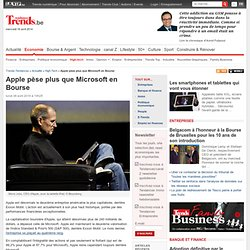Apple pèse plus que Microsoft en Bourse