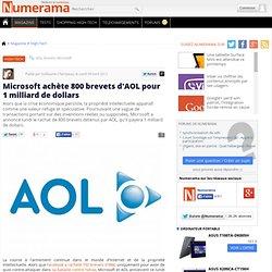Microsoft achète 800 brevets d'AOL pour 1 milliard de dollars