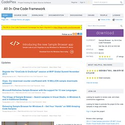Microsoft All-In-One Code Framework